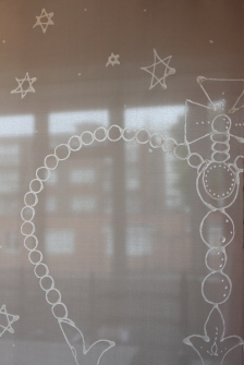 Transparent Gutta, transparent silk