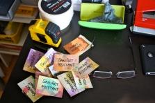 Samia handmade the badges