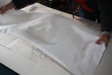 Laying out the silk
