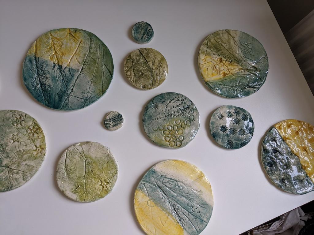 handmade ceramic discs